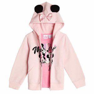 Disney Fleece Hoodie with Tee, Minnie in Pink